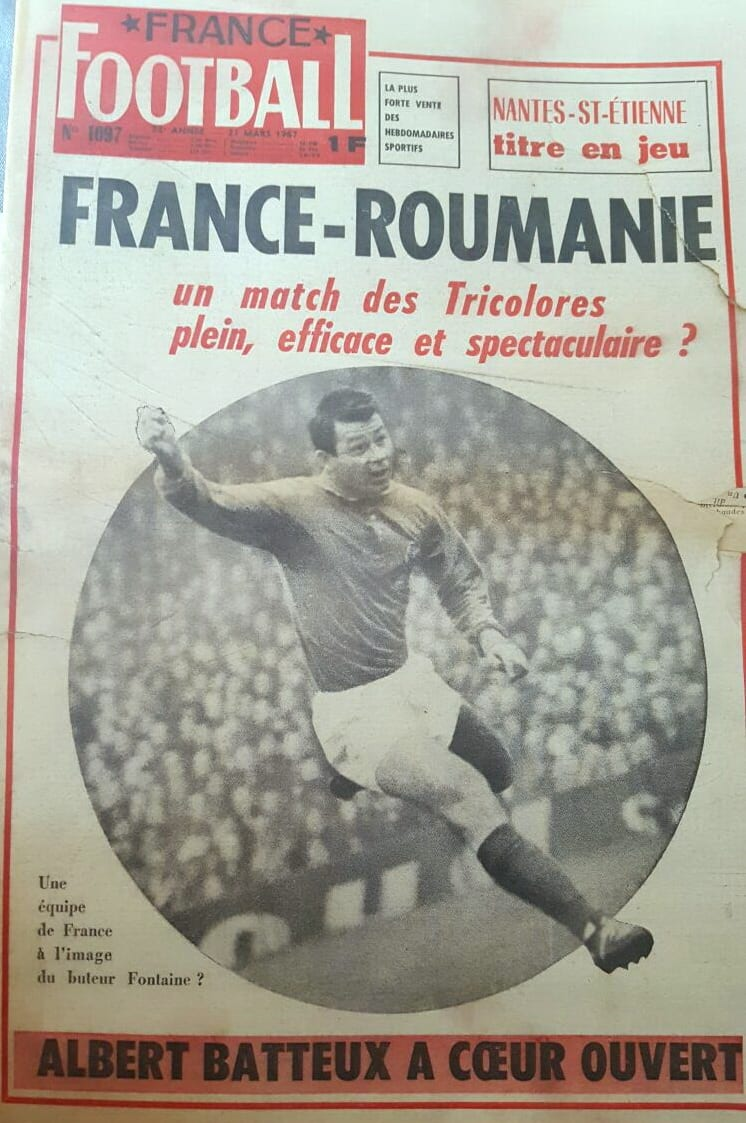 EXCLUSIVITATE: France Football din 1967 îl elogia pe un tânăr anonim Nicolas Dobrin!