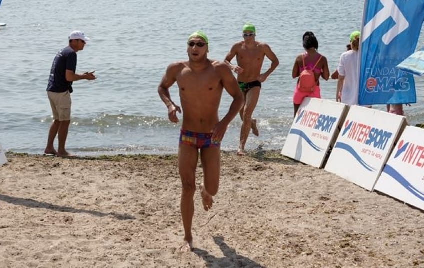 Bogdan Scarlat, locul 2 la Vama Veche, la o competiție de înot în mare