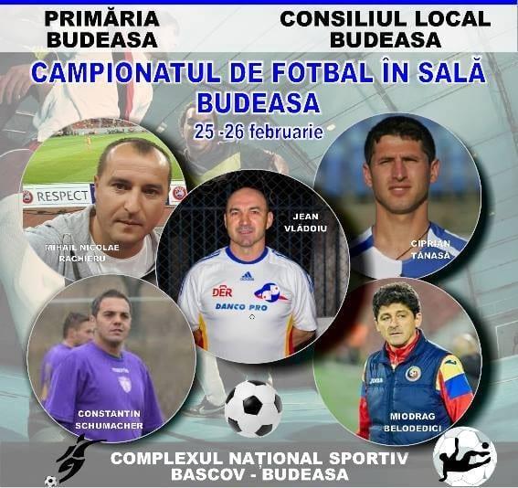 Turneu de fotbal în sală la Budeasa, cu invitați de onoare
