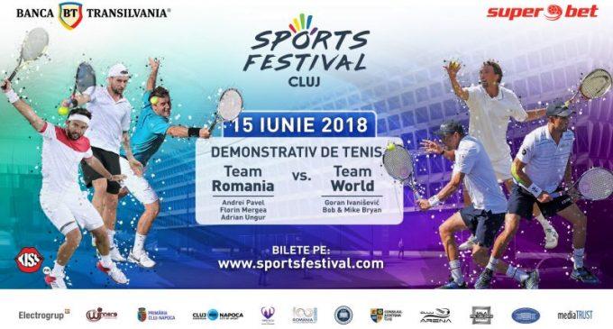 Tenis de mare clasă la Sports Festival cu Goran Ivanišević, frații Bryan, Andrei Pavel, Florin Mergea și Adrian Ungur