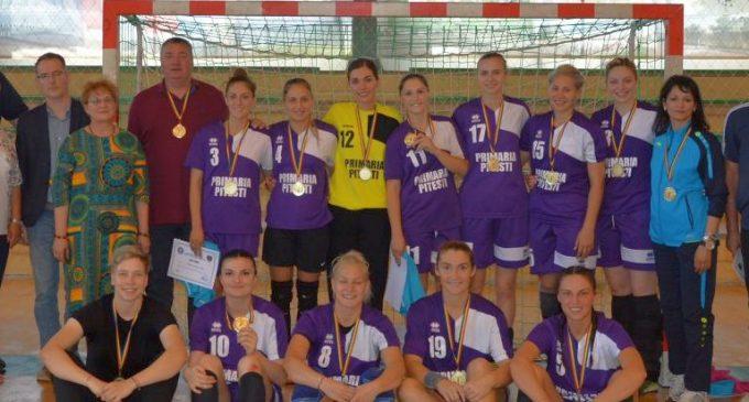Încă un titlu pentru Universitatea Pitești, de această dată la handbal feminin