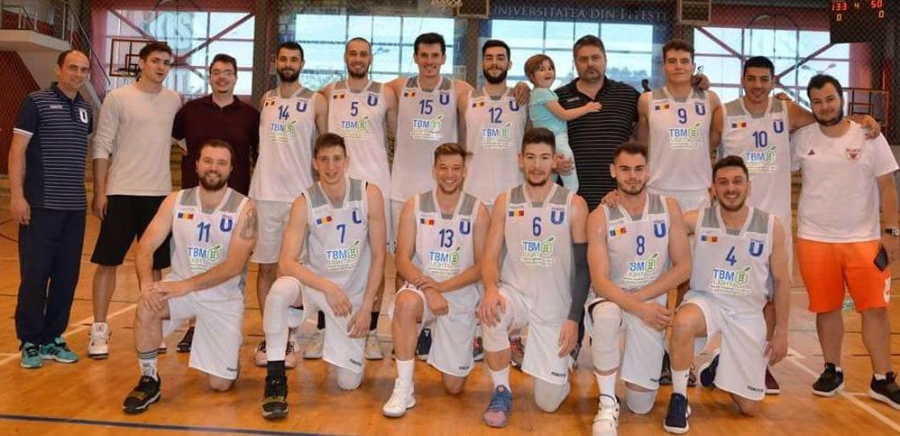 Universitatea Pitești, al treilea titlu consecutiv la baschet masculin