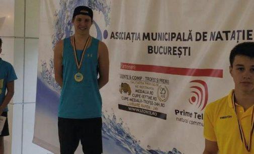 David Cârciumărescu, evoluții bune la Campionatul Municipal de înot