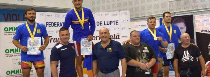 Cătălin Miron (CSM Pitești)a obținut o medalie de bronz la naționalul de lupte