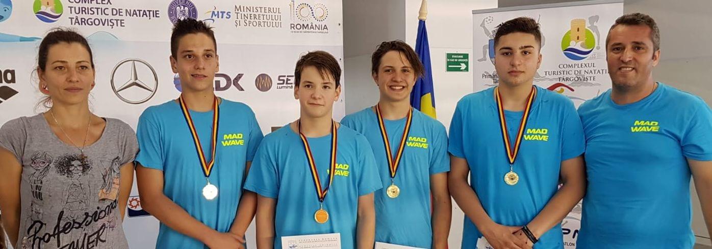 Nou record naţional de cadeți, stabilit de ștafeta 4×100 m mixt a CSM Pitești