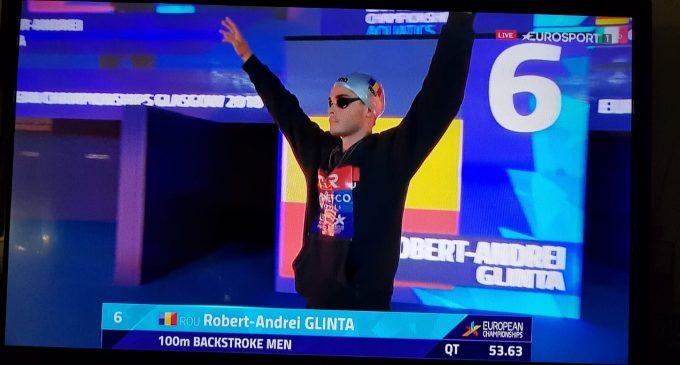 Robert Glință, aproape de o nouă medalie la Europene