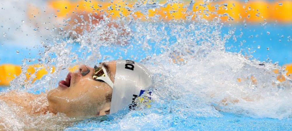 Robert Glință, vicecampion european la 50 m spate