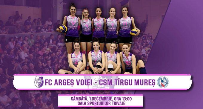 FC Argeș – CSM Târgu-Mureș, derby-ul diviziei A2 Vest la volei feminin