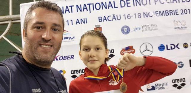 Emilia Andra Surugiu, trei medalii la naționalul de poliatlon de la Bacău