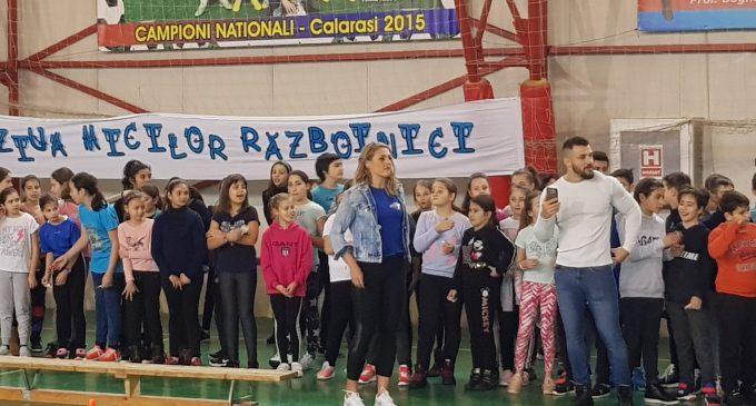 Mini-Exatlon pentru sute de copii la Școala nr. 4 din Pitești