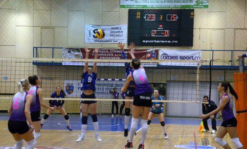 Un nou succes pentru FC Argeș, 3-0 cu CSM Lugoj, în liga secundă la volei feminin