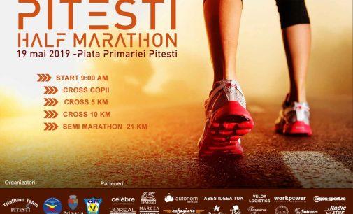 """Pe 19 mai, centrul orașului va fi asaltat de alergători la """"Pitești Half Marathon – ediția I"""""""