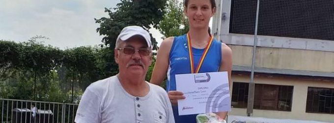 Andreea Turcu(CSM Pitești), argint în proba de tetratlon din cadrul CN pentru copii 1