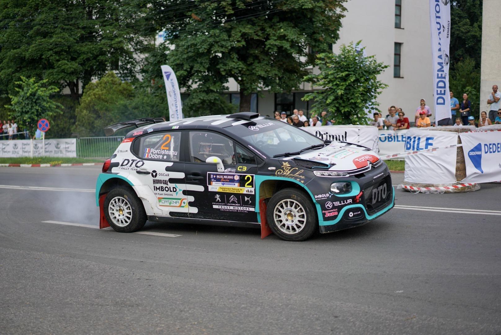 Vali Porcișteanu conduce după prima zi a Raliului Moldovei Bacău powered by Dedeman Automobile