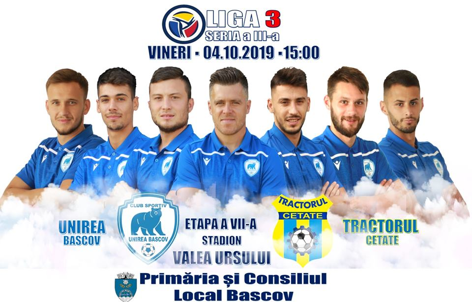 Liga 3| Unirea Bascov- Tractorul Cetate, de la ora 15