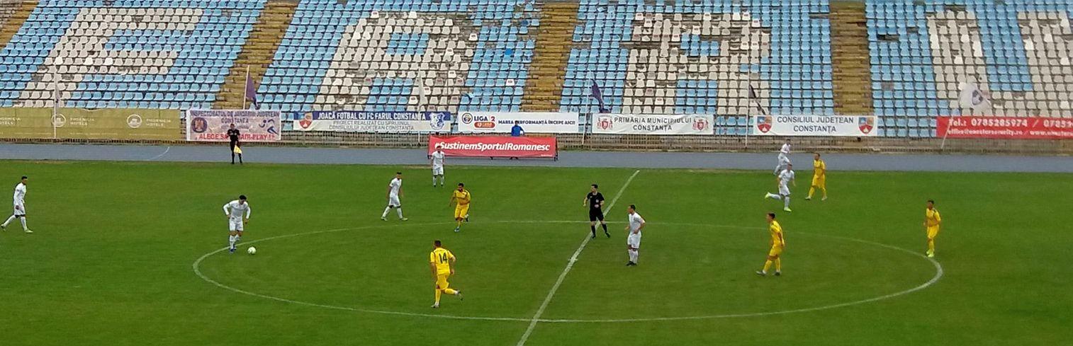 Primul eșec stagional pentru Mioveni: 0-2 în deplasare cu Farul Constanța