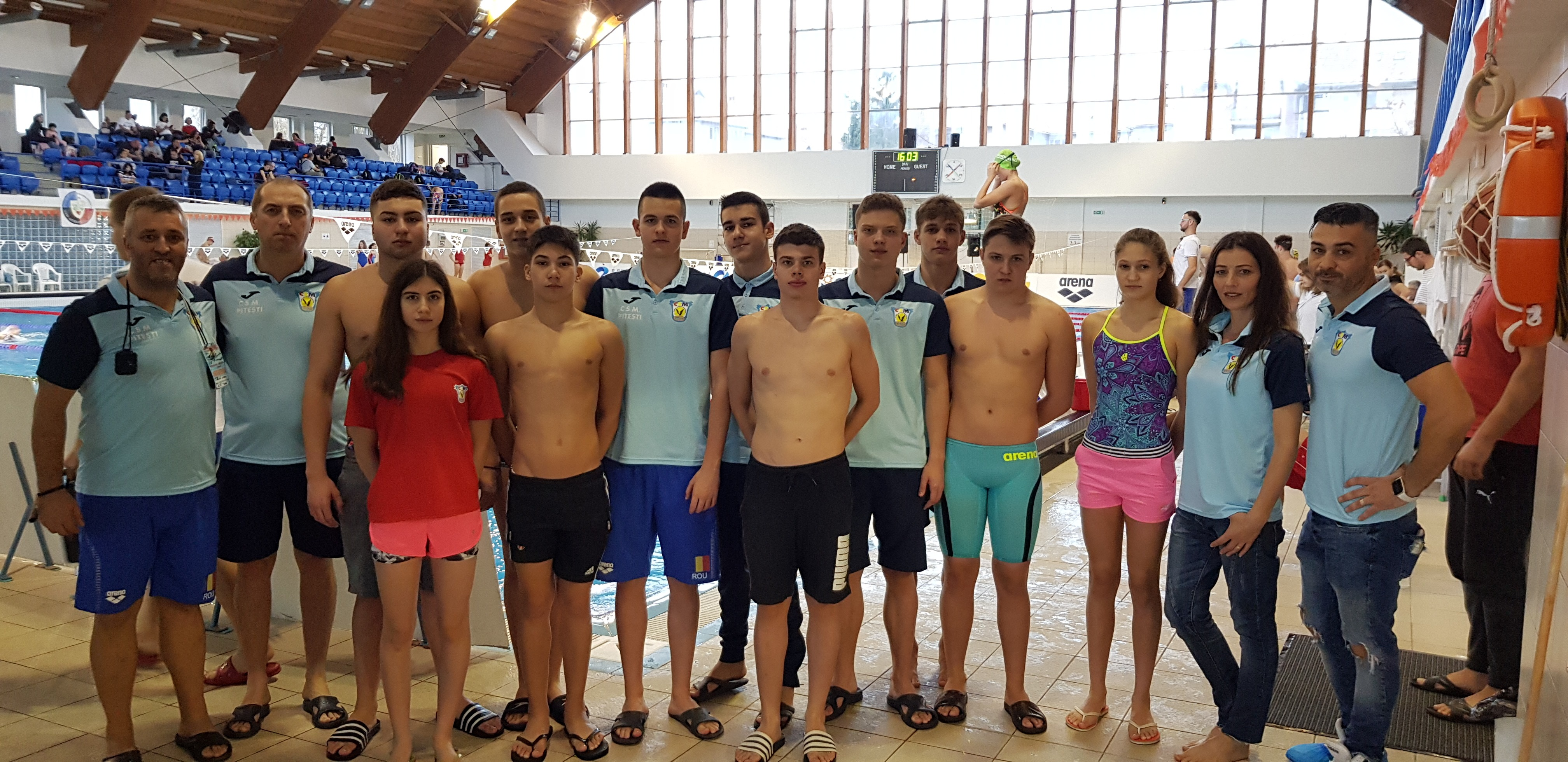CSM Pitești, recorduri naționale și medalii la seniori, la Naționalele de natație