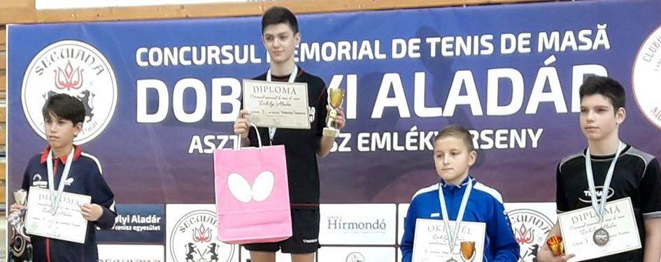 """Sebastian Pribeagu, locul 1 la memorialul """"Dobolyi Aladár"""""""