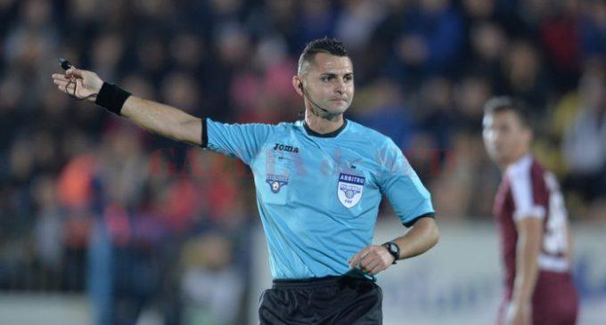 Iulian Călin arbitrează meciul FCSB – Gaz Metan Mediaş, din Liga I