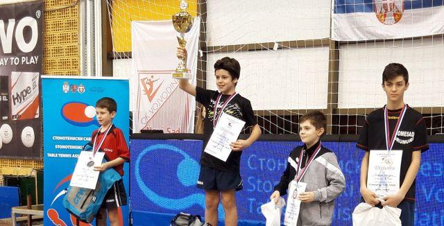 Tenis de masă   Sebastian Pribeagu, pe podium la turneul internațional de la Novi Sad