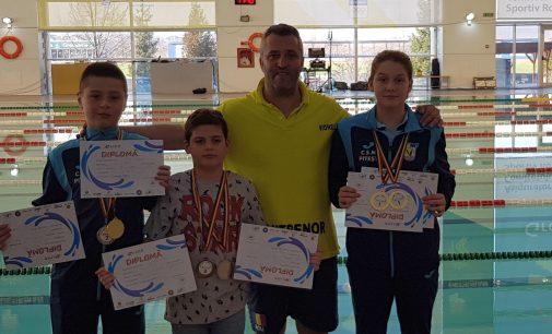 CSM Pitești a câștigat 8 medalii la Cupa Ligii la natație