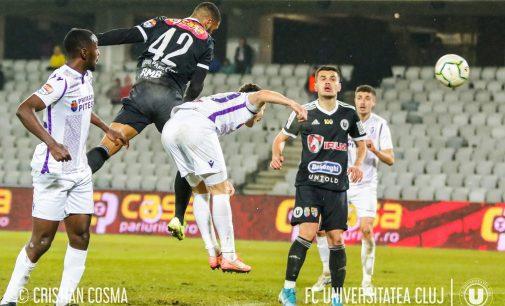 U Cluj – FC Argeş  1-1, în primul meci oficial al anului din Liga 2