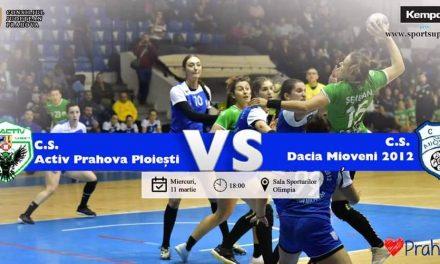 Derby-ul promovării la handbal, Activ Prahova Ploiești – CS Dacia Mioveni, Live pe pagina noastră de Facebook