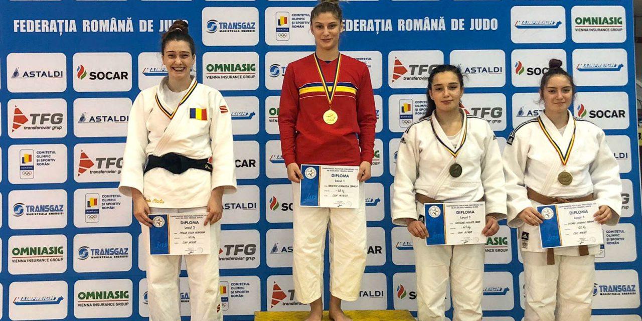 Florentina Ivănescu este campioană naţională la judo tineret, iar podiumul la categoria 63 kg aparţine integral CSM Piteşti