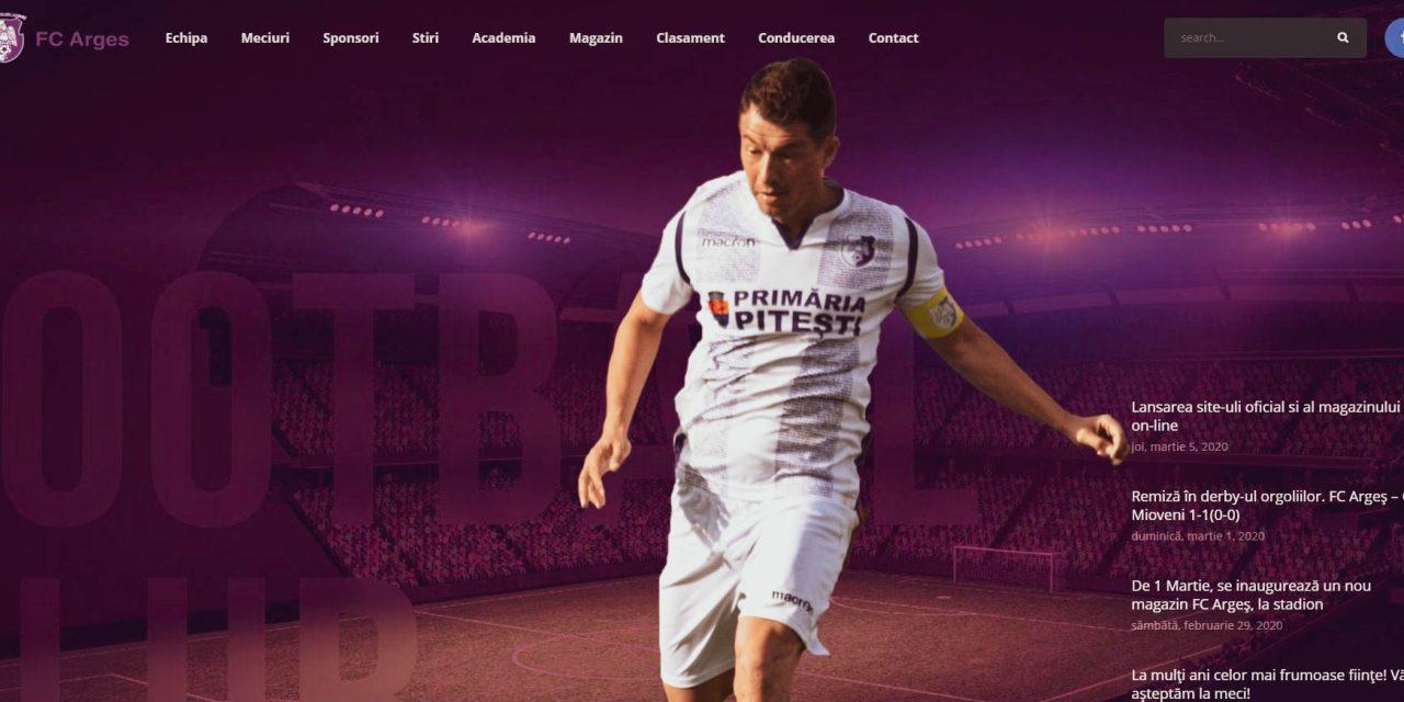 Siteul lui FC Argeş a fost lansat oficial astăzi