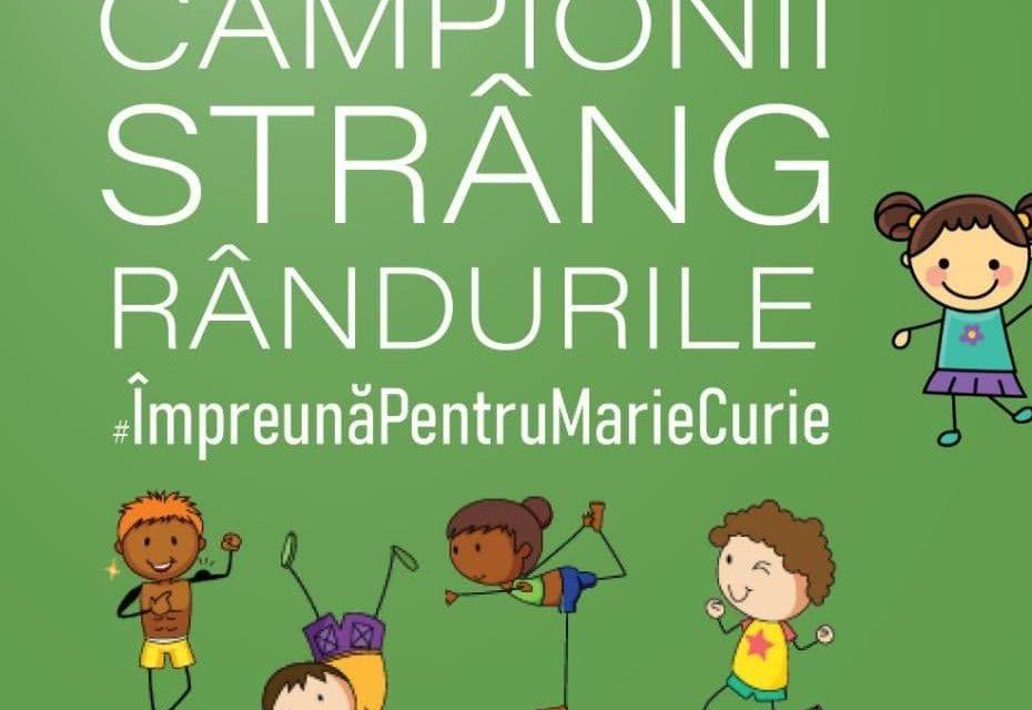 """Marii campioni ai României strâng fonduri pentru protecția cadrelor medicale de la Spitalul """"Marie Curie"""""""