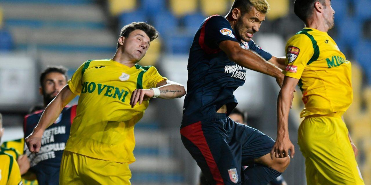 Chindia Târgovişte a câştigat prima manşă a barajului pentru Liga 1 cu CS Mioveni, scor 2-0