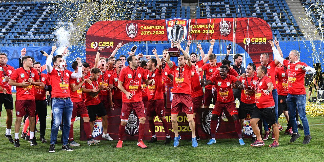CFR Cluj obţine al treilea titlu consecutiv, după ce s-a impus cu 3-1 în faţa Universităţii Craiova