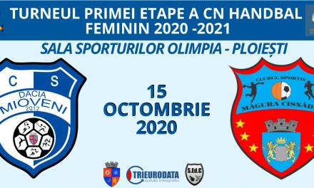 Dacia Mioveni- Măgura Cisnădie, pe 15 octombrie de la ora 13, în Sala Sporturilor Olimpia din Ploieşti