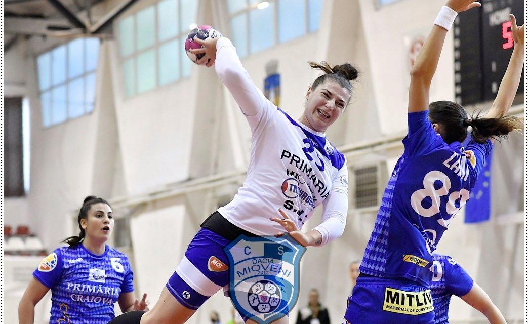 CS Dacia Mioveni pierde în fața Craiovei cu 25-28, în al doilea meci al turneului de la Sf. Gheorghe