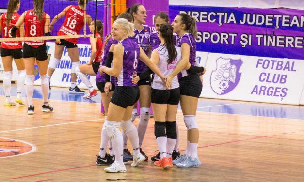 FC Argeș va disputa în weekend două meciuri în cadrul Diviziei A1 la volei feminin