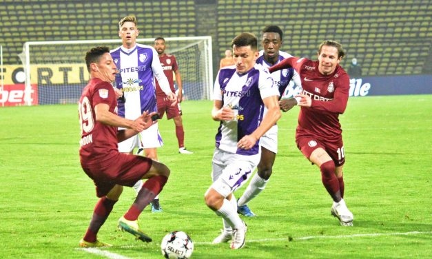 CFR Cluj a învins FC Argeş, scor 2-0, în Liga I