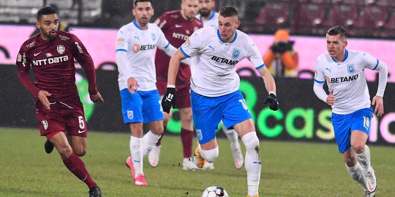 CFR Cluj – Universitatea Craiova 0-0, în ultimul meci al anului din Liga 1  Cele mai importante ştiri sportive ale zilei sunt oferite de www.cronica.ro