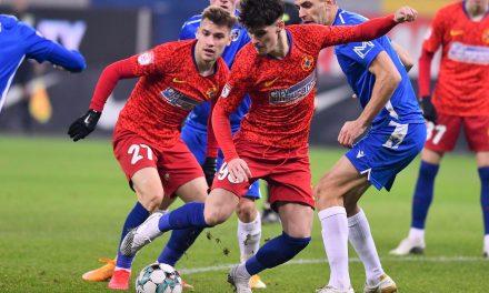 FCSB a învins-o pe Voluntari cu 2-1 și se distanțează la 4 puncte de CFR Cluj – Cronica sportivă