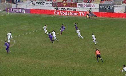 Astra Giurgiu – FC Argeş  0-2, în runda cu numărul 22