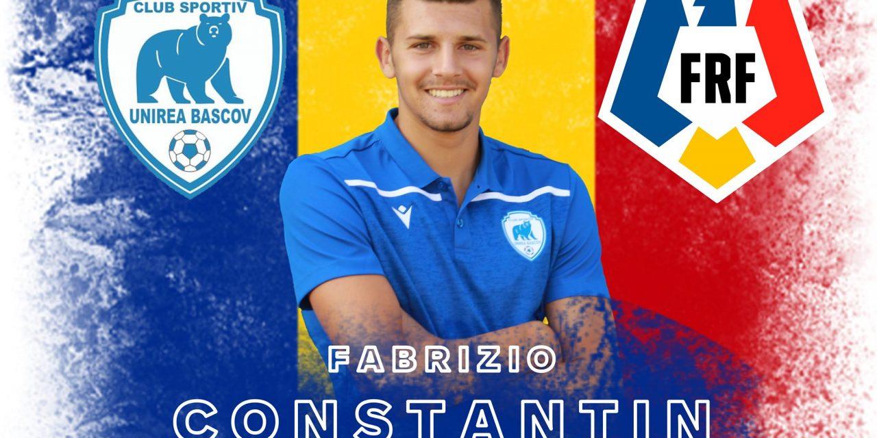 Fabrizio Constantin face parte din lotul naţionalei Under 18 pentru meciurile amicale cu Ungaria