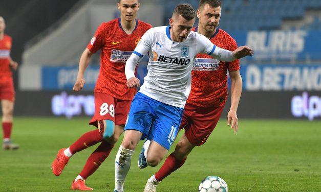 Universitatea Craiova a trecut aseară de FCSB cu 2-0, în Liga 1 Casa Pariurilor – Cronica sportivă