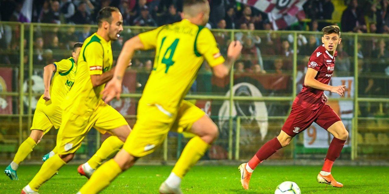 Rapid şi Mioveni joacă astăzi la Mogoşoaia, în runda a cincea din play-off