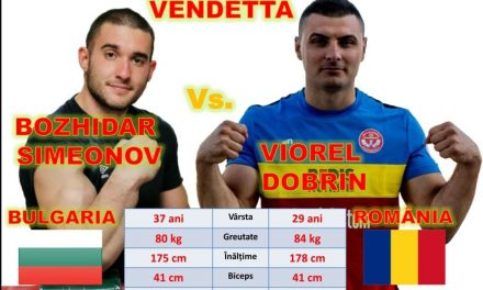 Argeșeanul Viorel Dobrin l-a învins pe campionul mondial la skandenberg, Bozhidar Simeonov