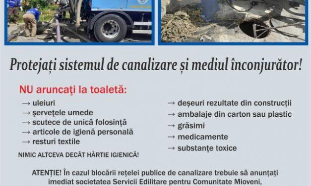 (P) Canalizarea nu este coș de gunoi!
