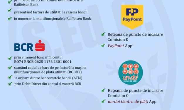 (P) Achitați factura apă-canal prin aplicațiile PayPoint și Un-Doi