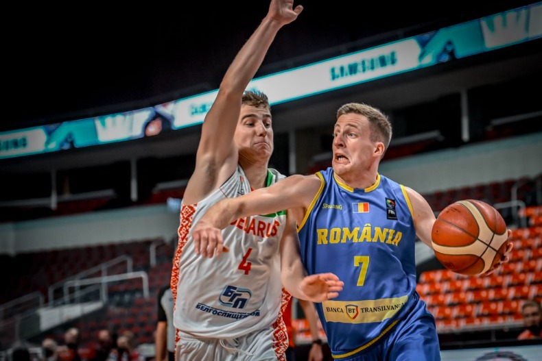 România pierde și al doilea meci din preliminariile FIBA Basketball World Cup, 72-77 cu Belarus