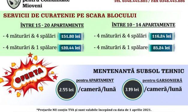 (P) SEdC Mioveni oferă servicii de curăţenie pentru scările blocurilor