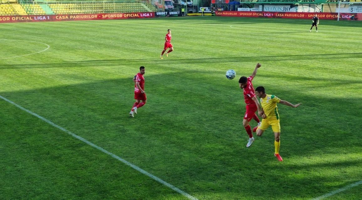 Chindia a învins CS Mioveni, scor 1-0, în Liga I