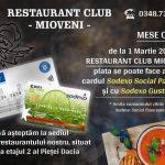 (P) La Restaurant Club Mioveni puteţi plăti cu Gusto Pass sau cu Social Pass de la Sodexo