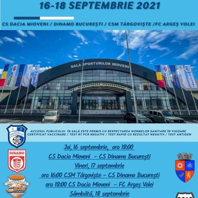 Dacia Mioveni va organiza un interesant turneu de volei în noua sala de sport din localitate